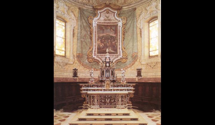 Altare con pala di S.Stefano